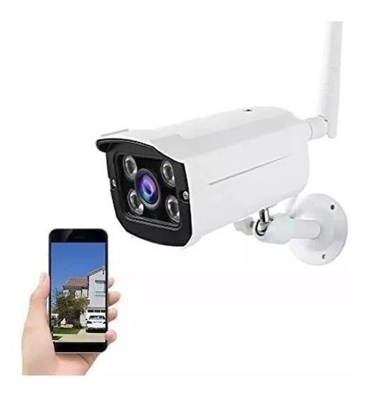 Camera Ip Externa A Prova D Agua Wifi Visao Noturna Hd Ip65