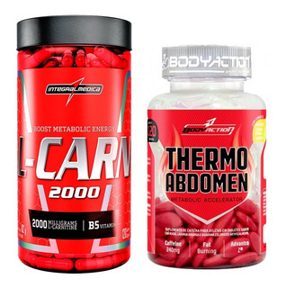 Kit Emagrecer Thermo Abdomen 120 Tabs + L-carnitina 120 Caps