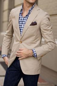 Blazer Masculino Slim Fit Sarja + Camiseta De Brinde