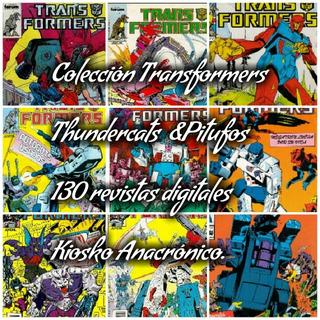 Coleccion Transformes, Thundercats& Pitufos 130 Revistas