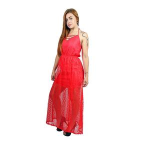 Vestido Longo Em Renda - Asya Fashion