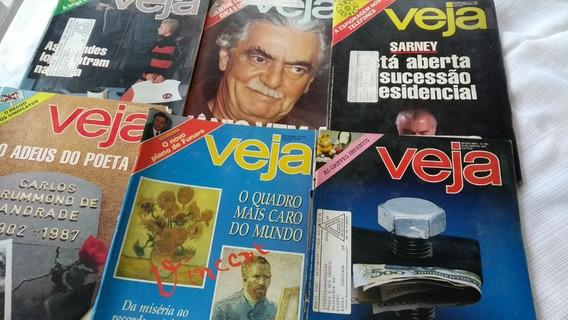 Revista Veja Lote Com 5 De 1987 E Uma Do Ano De 1980 Oferta