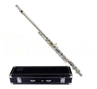 Flauta Transversal Em Dó Niquelada Frete Grátis Aprovado Ccb