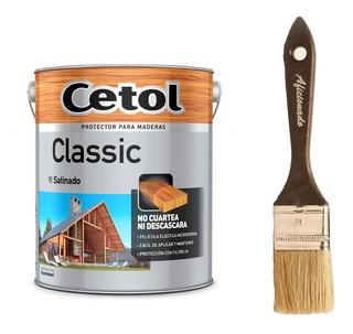 Cetol Classic Satinado 4 L Protección Madera + Pincel - Mm