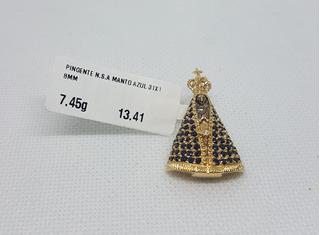 Pingente Nossa Senhora Aparecida Em Ouro 18k 750 7,45g