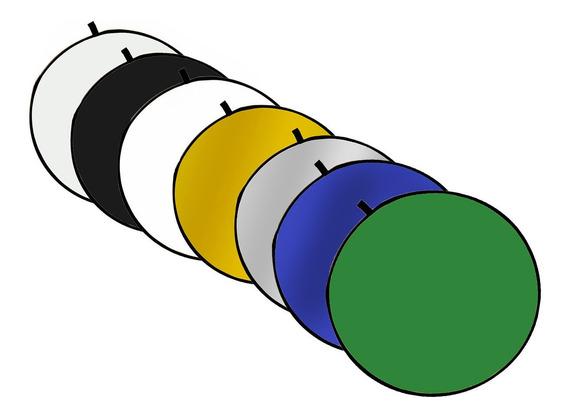 Disco Rebatedor E Difusor Circular 7 Em 1 De 60 Cm + Bolsa
