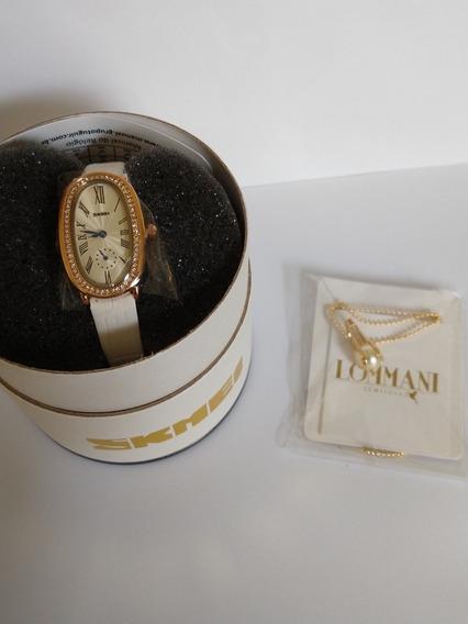 Relógio Feminino Original Barato C/ Corrente Kit Feminino