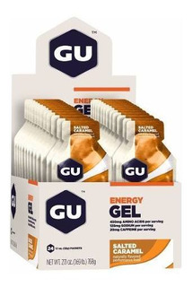 Gu Energy Gel Carb Mix 12 Caramelo 12 Chocolate 24 Sachês