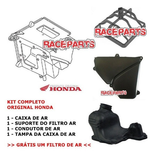 Imagem 1 de 1 de Caixa De Ar Original Honda Crf230 Completa Filtro Tampa 12x