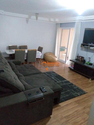 Apartamento Com 3 Dormitórios À Venda, 76 M² Por R$ 370.000,00 - Jardim Nova Taboão - Guarulhos/sp - Ap2726