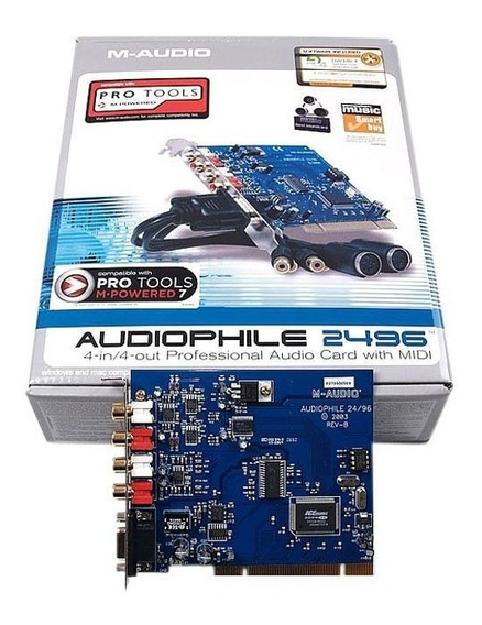 Audiophile2496 Placa De Som Pci Audiophile 2496 M-audio Nova