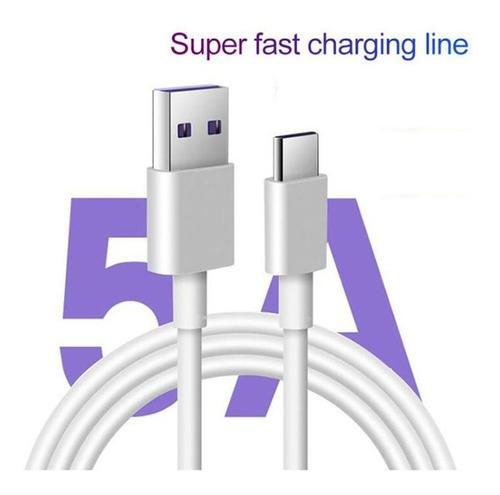 Cable Usb | 1m | Usb A - Usb C | Blanco / Negro | Tasa 0