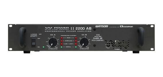 Amplificador Estéreo 2 Canais 550w W Power 2200 - Ciclotron