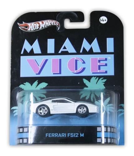 Hot Wheels Mattel Miami Vice Ferrari F512 M 2012 X8915