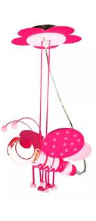 Candil Colgante Decorativo Infantil Mariposa Rosa Adir 5134