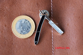 Broche Navalha Navalhete Barbearia Botton Pin Barber Shop