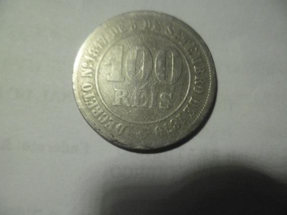Moedas Antigas 100 Réis 1871 Império - Mbc