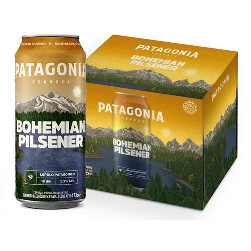 Imagen 1 de 1 de Cerveza Patagonia Bohemian Pilsener rubia lata 473mL 6 u