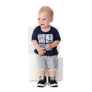 Roupa Bebê Menino Conjunto Camiseta E Bermuda Gel E Bordado