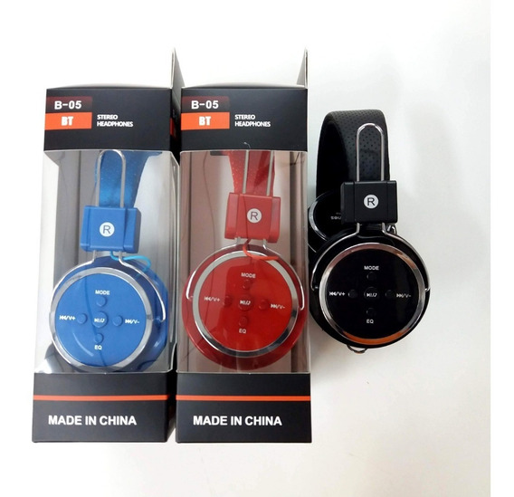 Kit Com 5 Headfone Bluetooth Rádio Fm E Entrada Sd Atacado