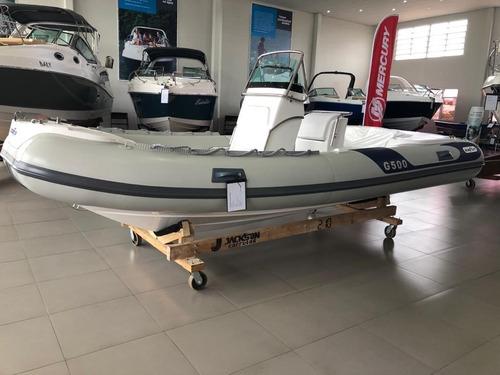 Imagem 1 de 6 de Barco Inflável Zefir G500 Geração Ii Zero Com Motor 115hp 4t