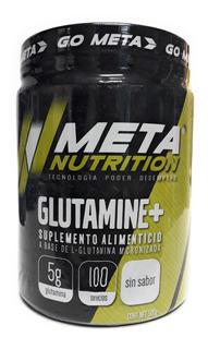 L - Glutamina Meta Nutrition 500 Gr 100 Porciones Envio Full