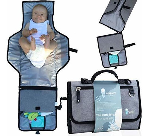 Imagen 1 de 8 de Almohadilla Para Cambiar Pañales Portátil Para Bebé Premi