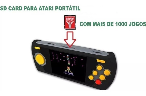 Atari Flashback Portátil Sd Card - 1020 Jogos Atualizados