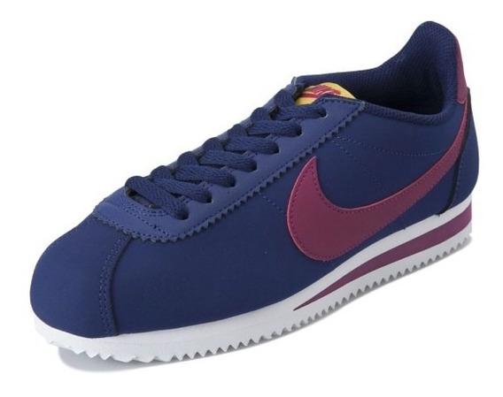 Tenis Nike Cortez Classic Leather Azules 100% Originales