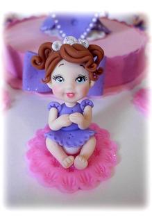 Souvenirs Princesita Sofia En Porcelana Fría