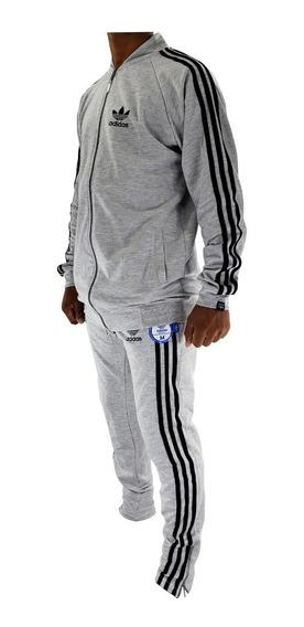 Campera Adids Retro Y Pantalon Deportivo Hombre Trefoil
