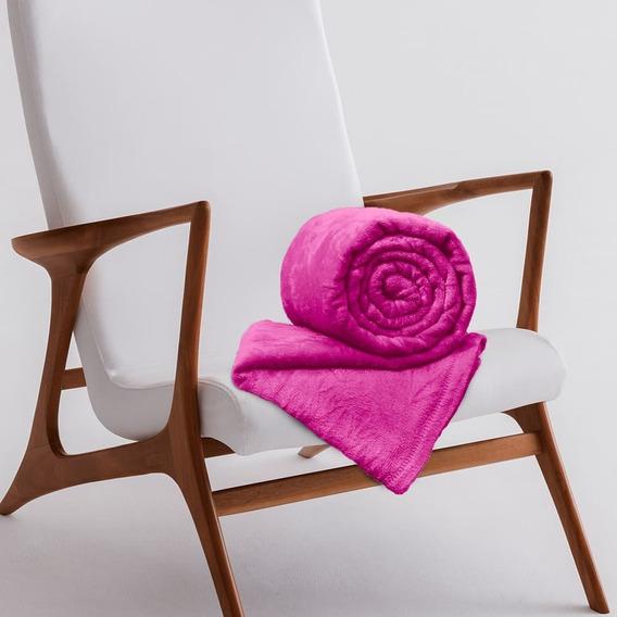 Manta De Microfibra King Toque 2,20m X 2,40m Rozac Pink