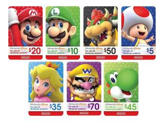 Tarjetas Nintendo Switch Eshop De $ 5 $ 10 $ 35 $ 45 $ 50