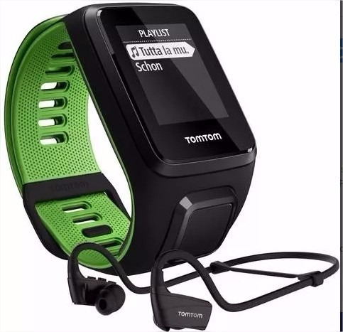 Relógio C/ Gps Tomtom Runner 3 Cardio Music + Fone Bluetooth