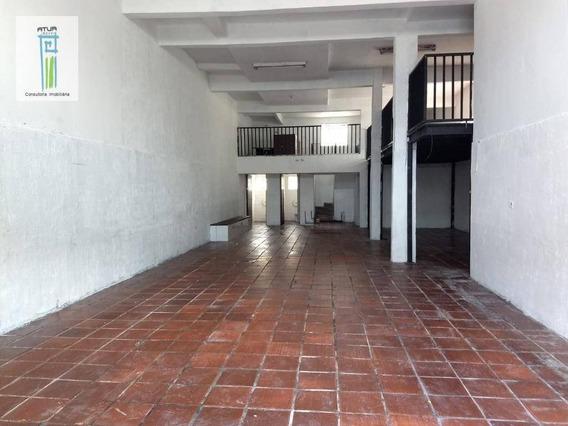 Salão Para Alugar, 180 M² Por R$ 2.800/mês - Vila Dionisia - São Paulo/sp - Sl0021