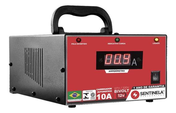 Carregador Bateria Carro Caminhão Moto Barco Lancha 10a 12v
