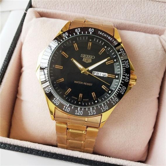 Relógio Seiko Pulseira De Aço Dourado Automático