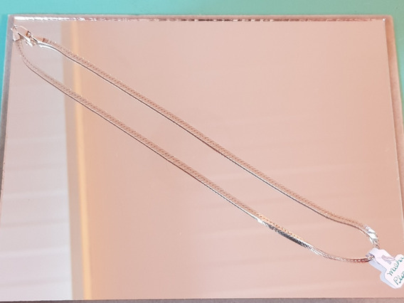 Corrente/colar Prata De 40cm E Estrutura Achatada