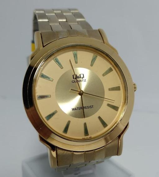 Relógio Q&q By Citizen Dourado - Q360-010y