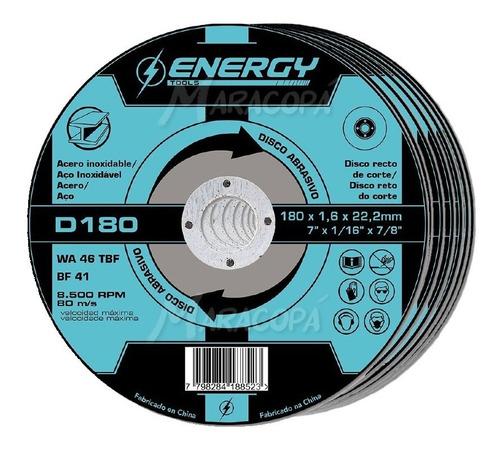 Imagen 1 de 3 de Discos De Corte 7'' Acero Energy 1.6mm Caja X 10 Unidades