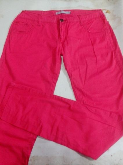 Pantalon Rosa Elastizado Talle L