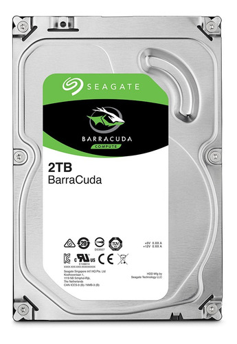 Disco duro interno Seagate Barracuda ST2000DM005 2TB