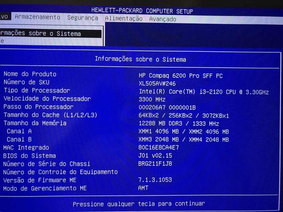 Computador Hp Core I3 Com 12 Gb Memória 4 Tb Hd Sata