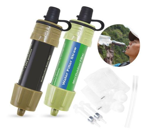 Imagem 1 de 8 de 2 Pcs Filtro De Água Ao Ar Livre Sistema De Filtragem De