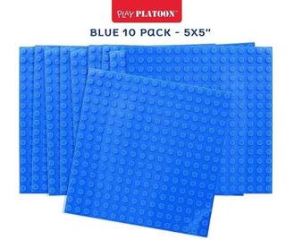 Placas De Base De Construcción De Ladrillos Azul Paquete!