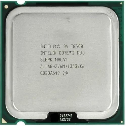 Imagem 1 de 2 de Processador Core 2 Duo E8500 3.16ghz 6mb 1333mhz 775+ Pasta.