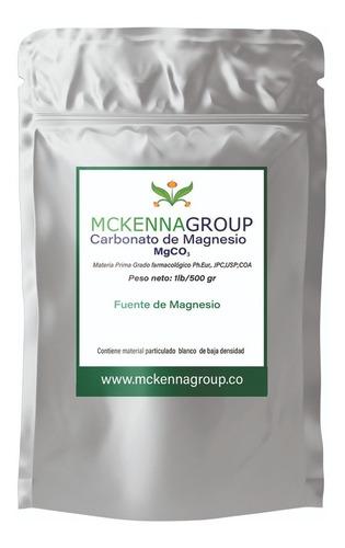 Carbonato De Magnesio Alimentario 500 Gr/envío Gratis