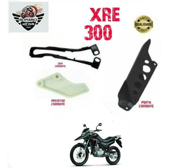 Protetor + Guia Corrente+porta Corrente Xre 300