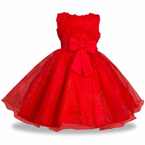 Vestido Infantil Festa Vermelho Branco Rosa Batizado