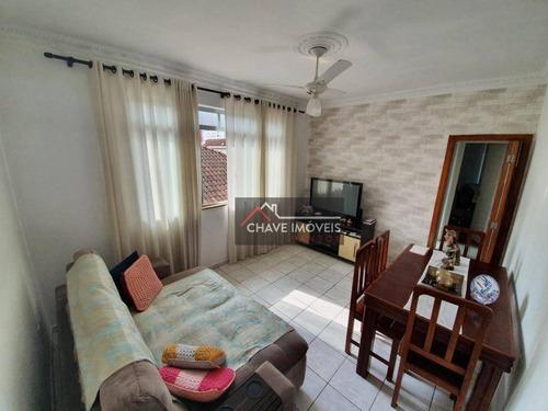 Apartamento À Venda, 65 M² Por R$ 325.000,00 - Gonzaga - Santos/sp - Ap2886